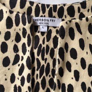 Emerson Fry Tops - Emerson Fry Leopard A-line Mod Top Size L